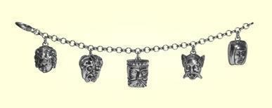 1. Bracciale charms 5 mascheroni