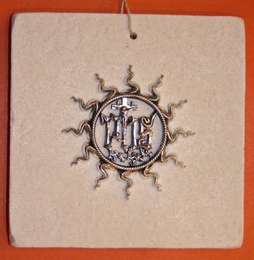 Quadro Ologramma in Argento 925% base pietra